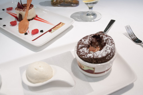 Palo Desserts Chocolate Souffle And Tiramisu