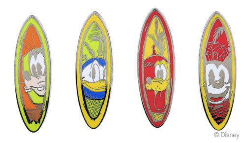 DCL Pin Castaway Cay Surf Boards Booster Set August 2014