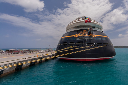 Stern Of The Disney Fantasy St Thomas Havensight Pier