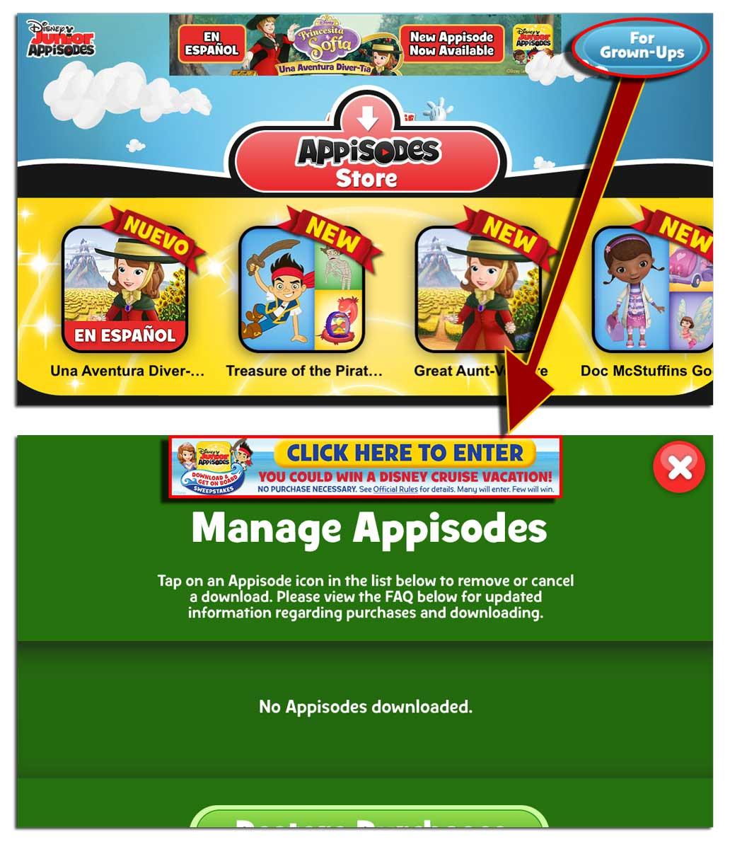 Disney appisodes wont download