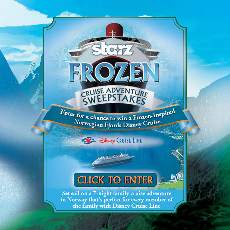 starz frozen cruise adventure sweepstakes giving away a
