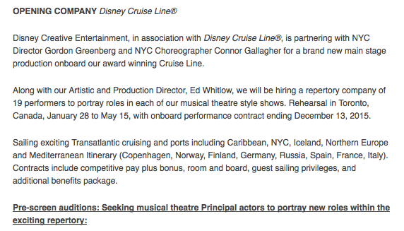 DCL Audition Tangled Magic 2014