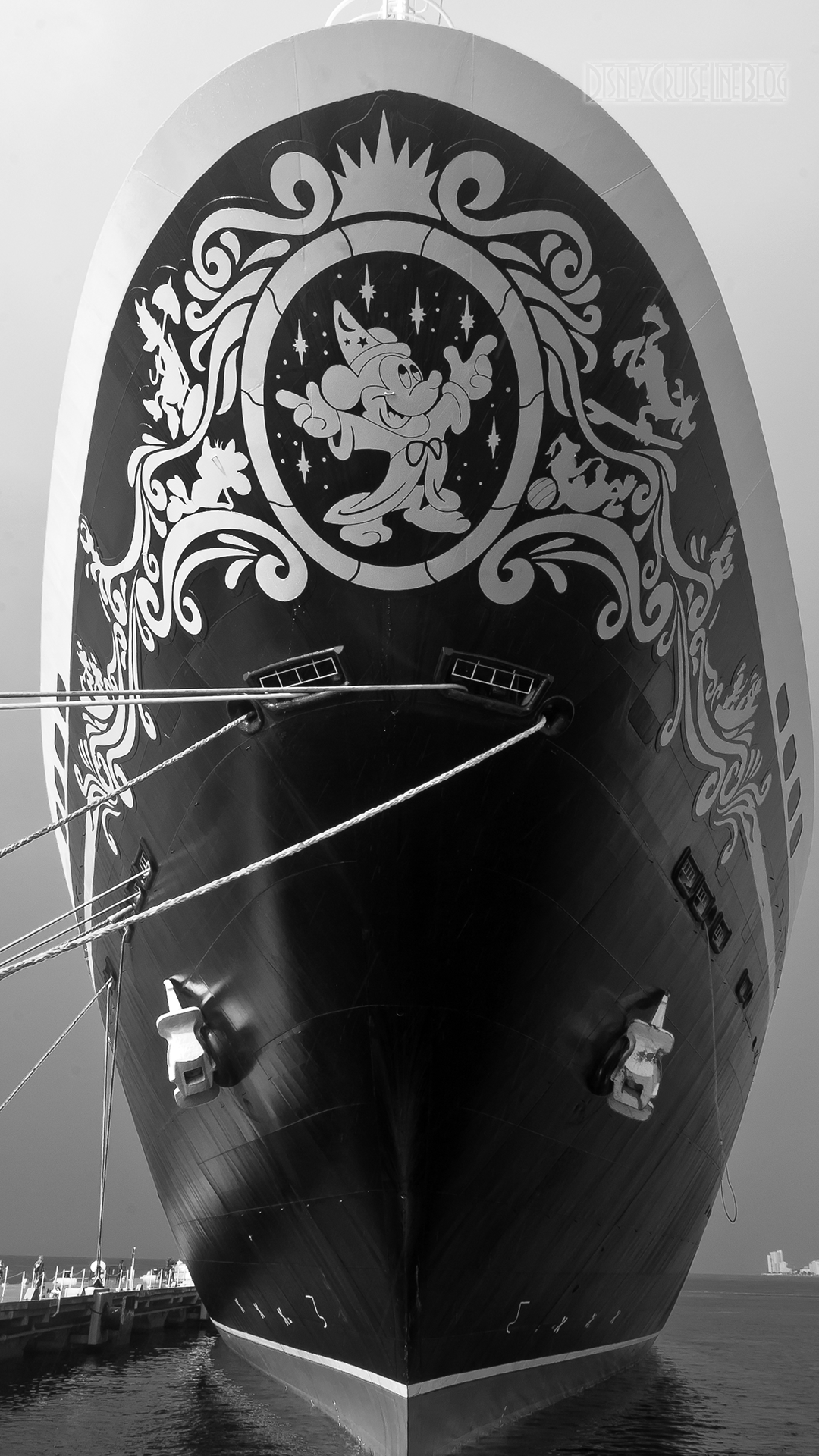 Disney Magic Bow B&W iPhone 6 Plus Wallpaper