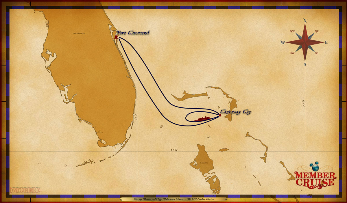 Map Dream 4 Night Bahamian DVC Member Cruise