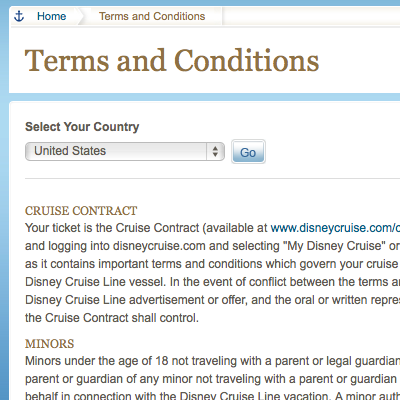 Disney Cruise Lines Revised Cancelation Fees Effective October - Cruise ship terms
