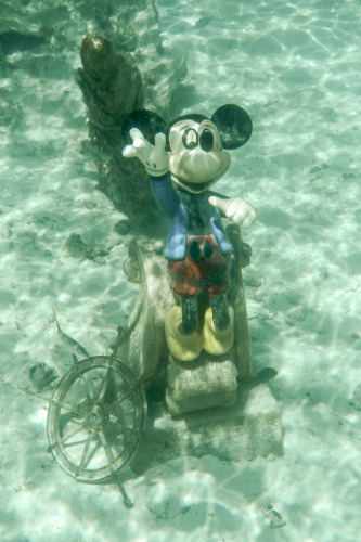 Castaway Cay Snorkeliing Repainted Mickey Mouse Figure