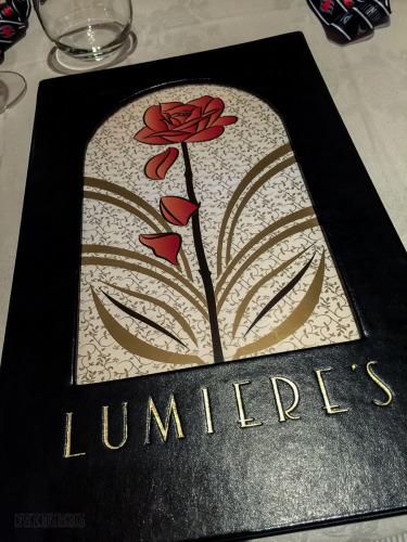 Lumiere's Menu Cover