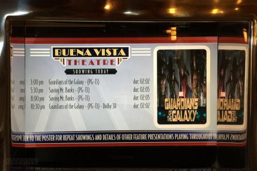 Guardians Of The Galaxy Buena Vista Theatre