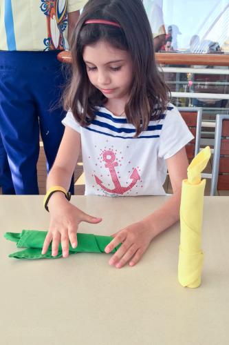 Isabelle Napkin Folding Cabanas