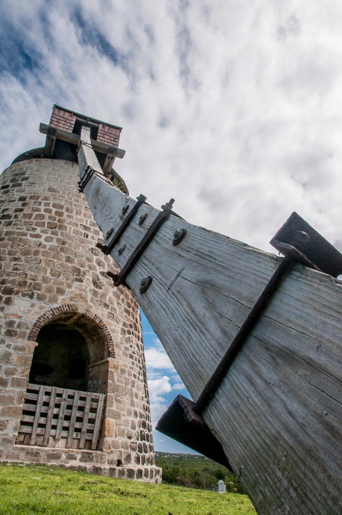 Antigua Sugar Cane Press Windmill