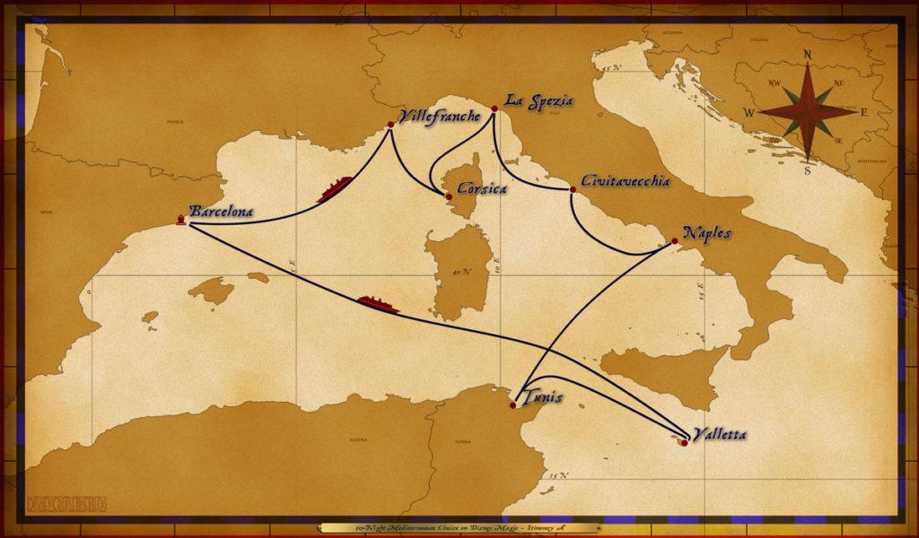Map Magic 10 Night Mediterranean Itinerary A