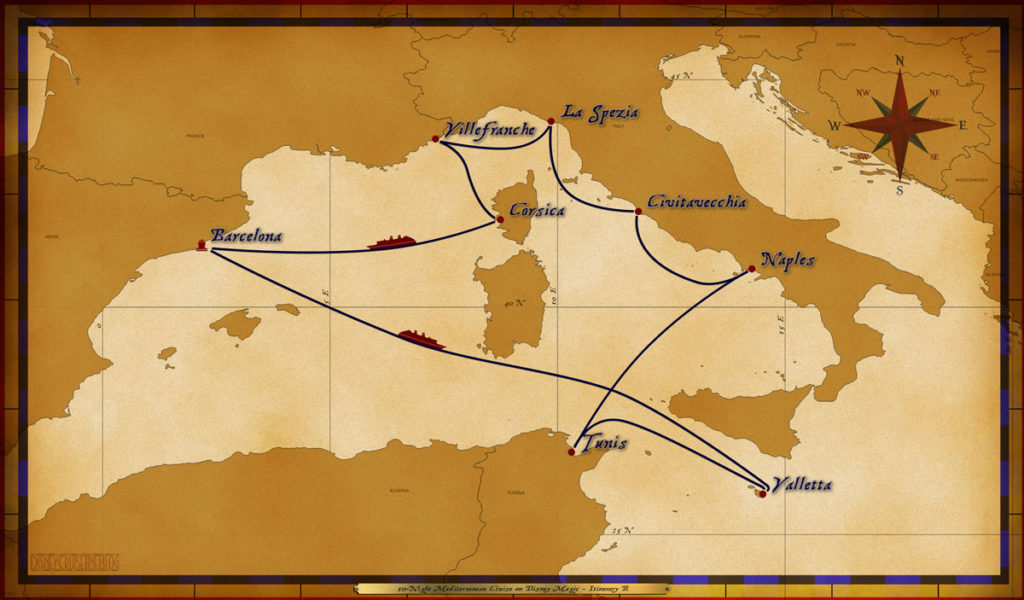Map Magic 10 Night Mediterranean Itinerary B