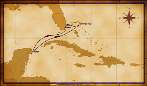 Map Wonder 5 Night Western Caribbean A