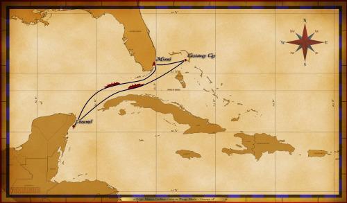Map Wonder 5 Night Western Caribbean A