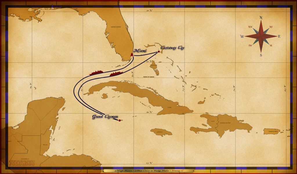 Map Wonder 5 Night Western Caribbean C