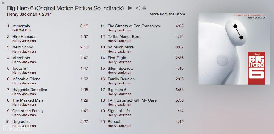 Big Hero 6 Original Motion Picture Soundtrack Henry Jackman