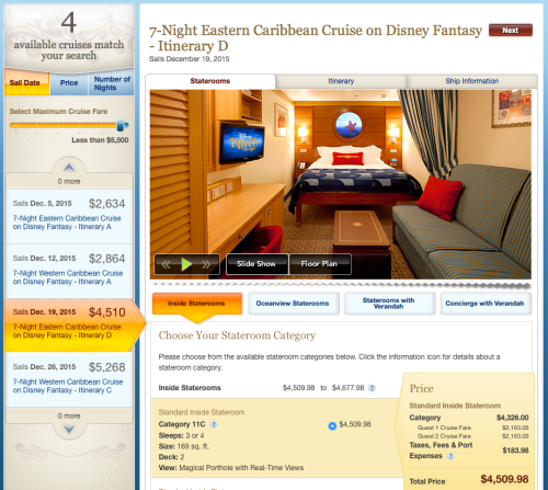 DCL Fantasy 20151219 Booking