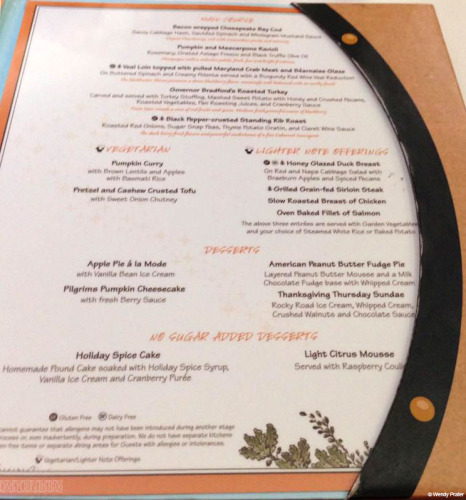 DCL Thanksgiving Menu 2014 Right