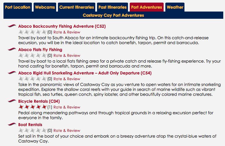 DCLBlog Itinerary Feature Port Castaway Cay Port Adventures