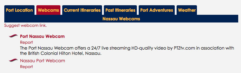 DCLBlog Itinerary Feature Port Nassau Webcam