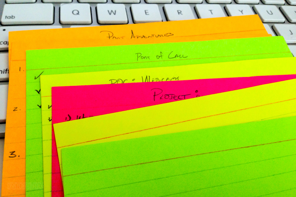DCLBlog Itinerary Planning Notecards