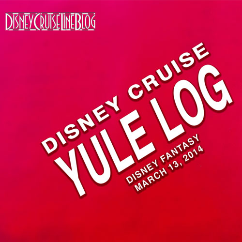 Disney Cruise Yule Log Logo