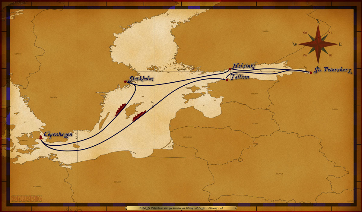 Map Magic 7 Night Northern Europe Cruise Itinerary A