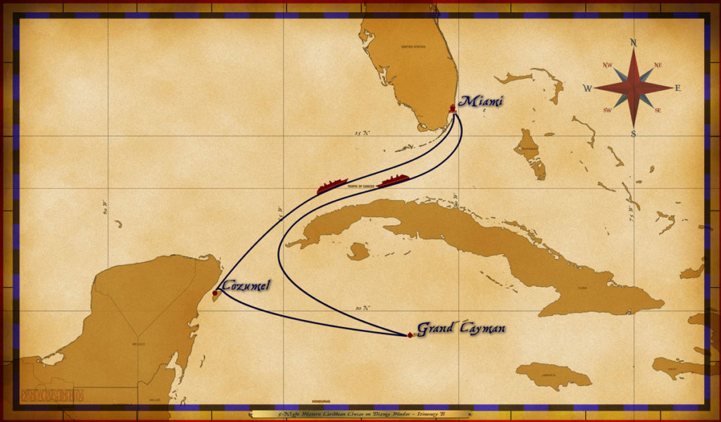 Map Wonder 5 Night Western Caribbean B