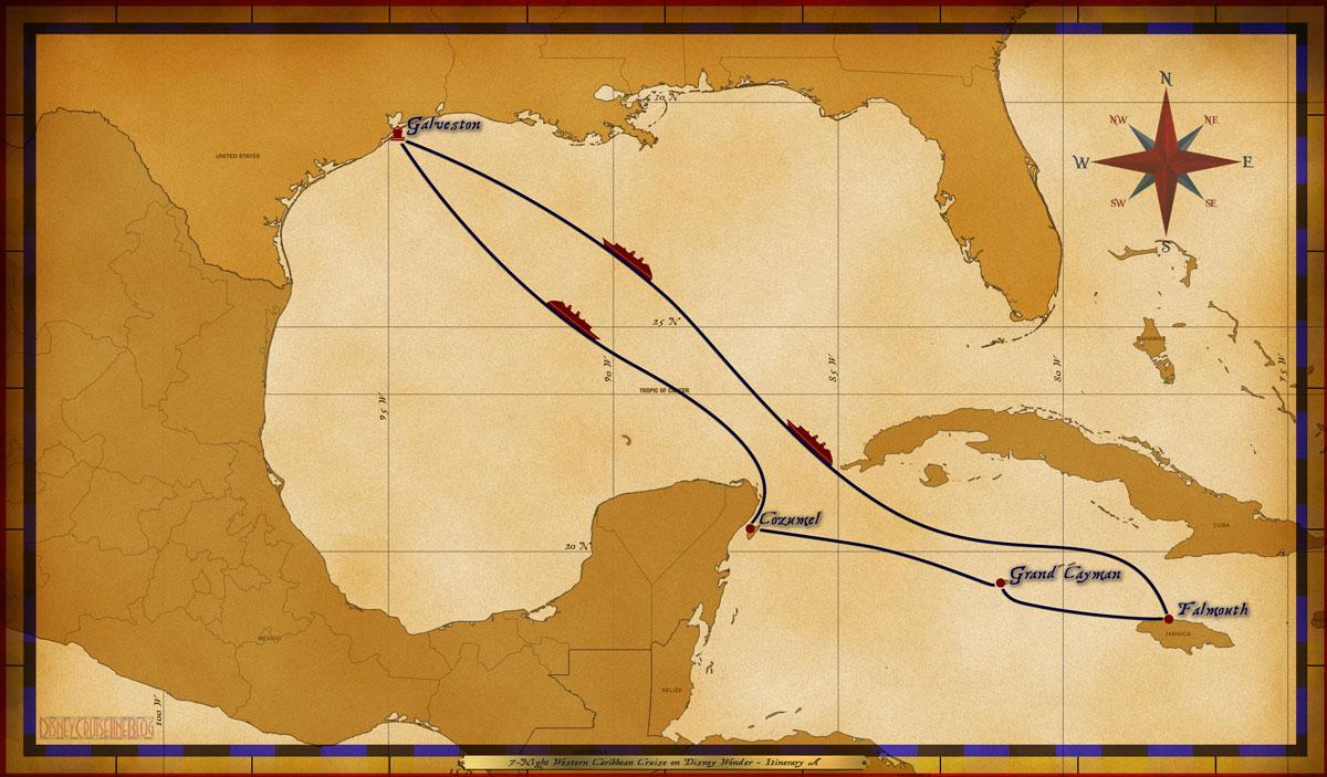 Map Wonder 7 Night Western Caribbean A