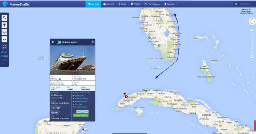 Marine Traffic Disney Magic 20141201