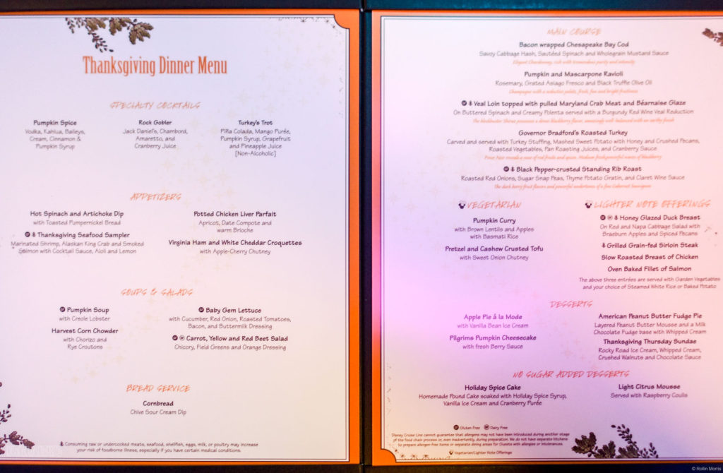 Thanksgiving Dinner Menu Wonder November 2016