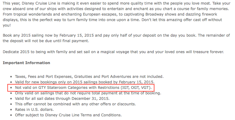 Special Offers On Disney Cruise Line Sailings As Of 1/19
