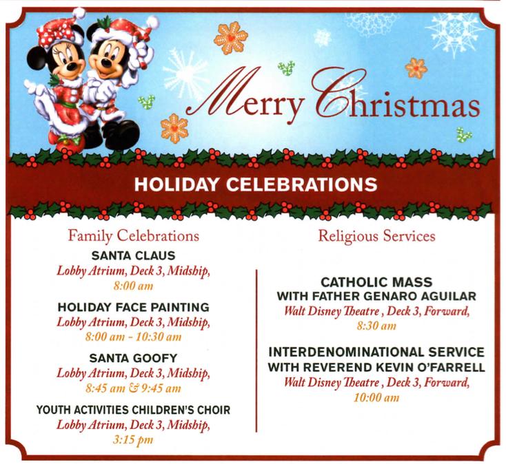 Disney Fantasy Christmas Day 2014 Activities