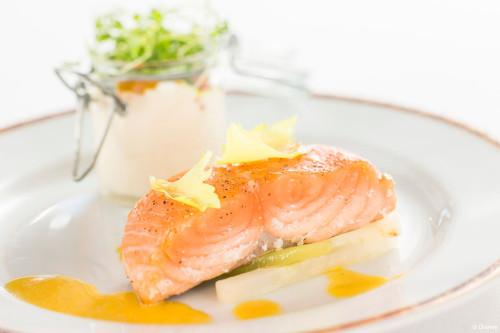 Grilled Salmon At Petites Assiettes De Remy