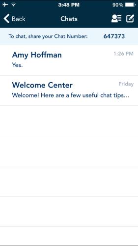 Navigator App Chat Chats