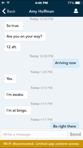 Navigator App Chat Conversation