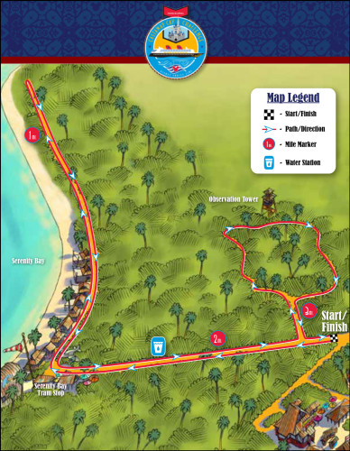 RunDisney Inaugural Castaway Cay Challenge Brochure Race Route 2015