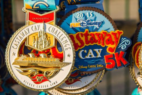 RunDisney Inaugural Castaway Cay Challenge Medals
