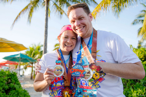 RunDisney Inaugural Castaway Cay Challenge Runners Medals