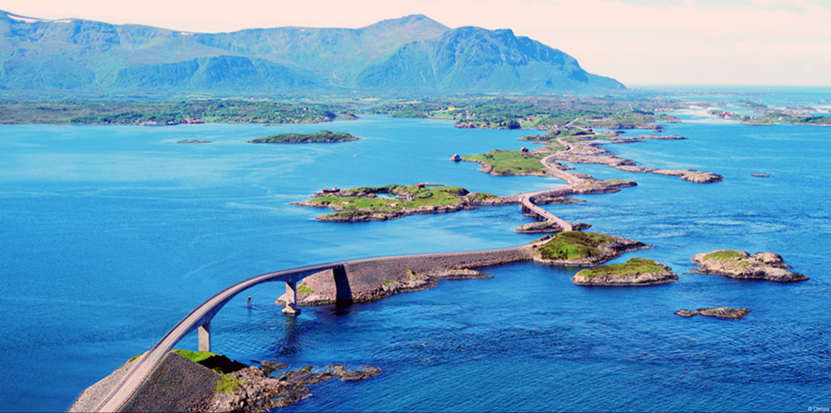 DCL Port Adventure Molde Norway Atlantic Ocean Road