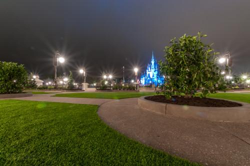 Magic Kingdom Hub Grass Viewing Area