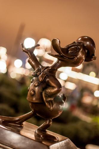 Magic Kingdom Hub Fountain Donald