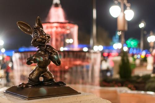 Magic Kingdom Hub Fountain Br'er Rabbit