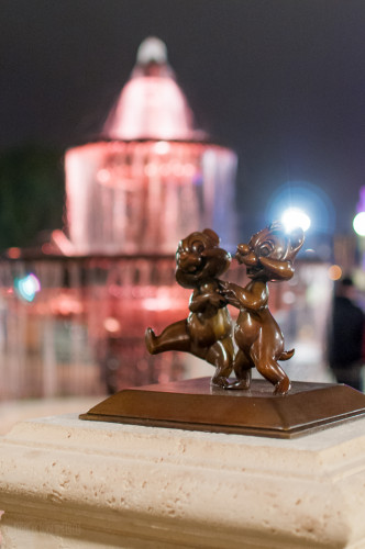 Magic Kingdom Hub Fountain Chip & Dale