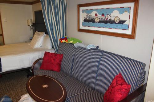 Disney Wonder Refurbished Stateroom 8512 Couch