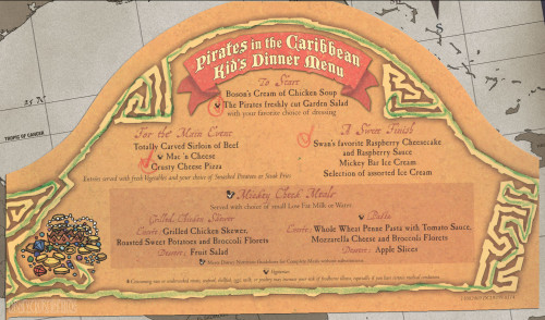 Mickey Check Childrens Menus Magic February 2015 Pirates