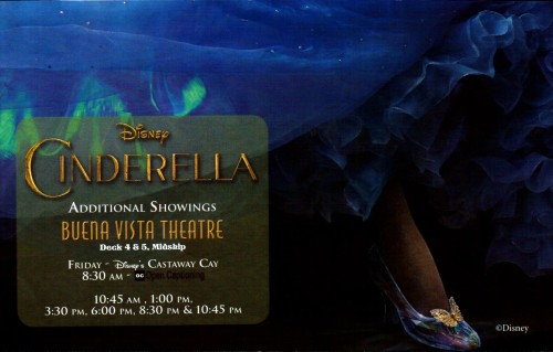Cinderella Additional Showings Buena Vista Theatre March 2015