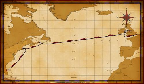 Map Magic 14 Night Eastbound Transatlantic Itinerary 2016