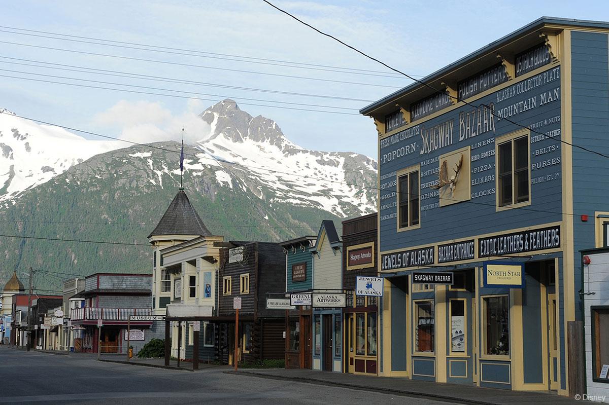 DCL Alaska Port Adventure Downtown Skagway