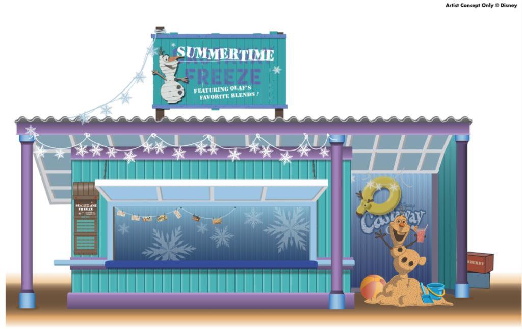 DCL Summertime Freeze Castaway Cay Concept Art